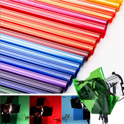 Color Gel Lighting Filter paper for Photo Camera Studio Sheets 40x50cm 16x20""