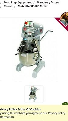 Commercial food mixer Metcalfe SP-200 3 Speed 20 Litre Planetary Mixer and stand