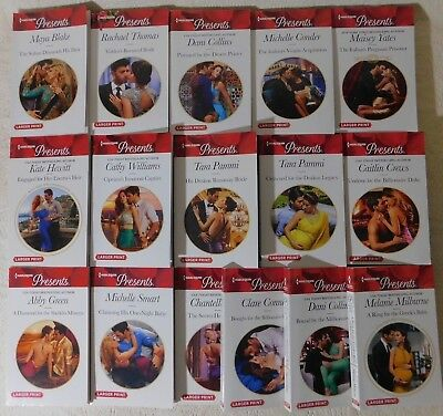 Harlequin Presents lot of 9 contemporary romance paperback, 2017 &2018