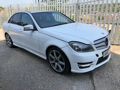 2012 (62) Mercedes-Benz C220 Cdi Amg Sport Plus White Salvage Damaged Repairable