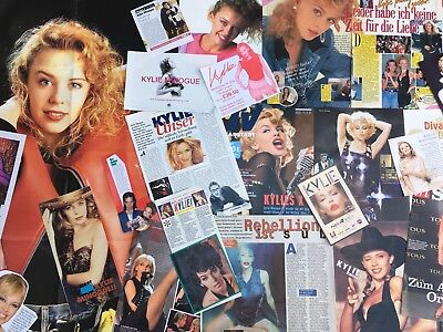 KYLIE MINOGUE SAMMLUNG 100+ Clippings LOT POSTER 1988-2018 RARE & SEXY GOLDEN