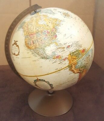 Replogle 12 Inch World Classic Globe Metal Stand Raised Relief Vintage EUC
