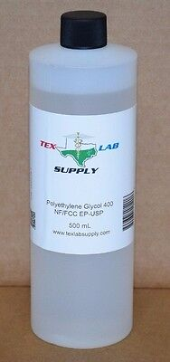 Polyethylene Glycol 400 (PEG 400) NF-FCC/EP-USP 500 mL - Food Grade,Concentrates