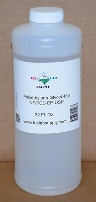 Polyethylene Glycol 400 (PEG 400) NF-FCC/EP-USP 32 Oz. - Food Grade,Concentrates