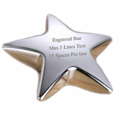 Star Desk Paperweight Engraved