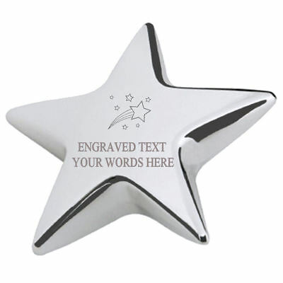 Shooting Birthday Stars Office Desk Paperweight Engraved