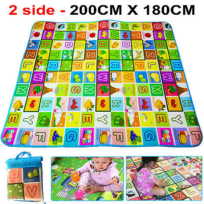 Large Baby Play Mat Kids Crawling 2 SIDE Play Game Educational Soft Foam Carpet