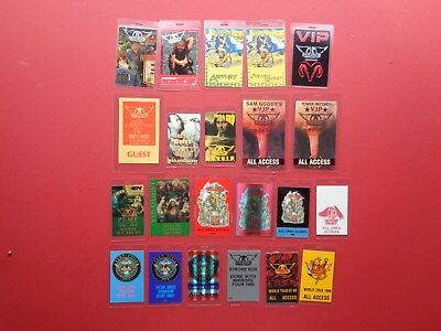 AEROSMITH Backstage pass collection,89 different,Rare old Originals