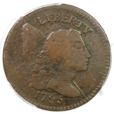 1795 PCGS VG Details Plain Edge Liberty Cap Large Cent Coin 1c
