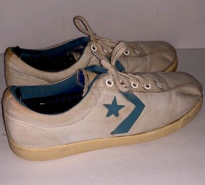 VTG 60s/70s Converse Shoes Sneakers White Made In USA Low All Star Size 9.5