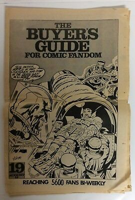 RARE! The Comic's BUYERS GUIDE #19 1972 RUSS HEATH Subscription Copy JACK KIRBY