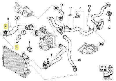 BMW Genuine Cooling System Water Hose/Pipe E46 11537786724