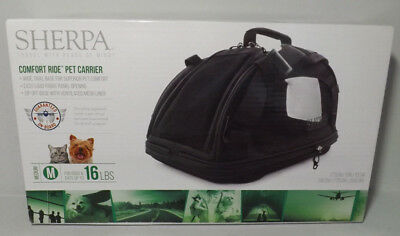 Sherpa Comfort Ride Travel Pet Carrier Medium For Dogs & Cats up to 16lbs black