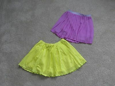 Girls Cherokee Skirts  Yellow And Light Purple Size  Small 6X Lot Of Two