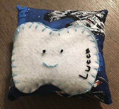 Star Wars Themed My Tooth Fairy Pillow, Customize With Child's Name