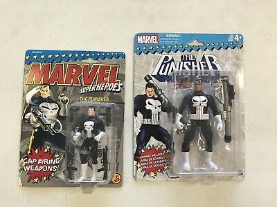 "Marvel Punisher Action Figure Lot MOC 6"" 3.75"" Hasbro Toybiz Legends Retro NIP"