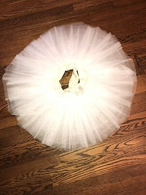 preowned sansha adult semi professional rehearsal tutu white, 10 layers