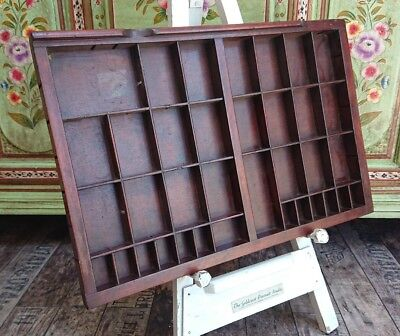 Vintage Printing Letterpress Typeface Drawer wall display x 1 tray printer rare