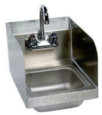 Stainless Steel Hand Sink With Side Splash - NSF - Commercial Equipment 10' X