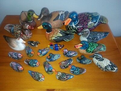 Collection Of Ceramic Ducks - 24 Beautifully Decoratively Painted Ducks