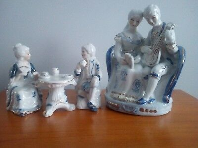 Collection Of 18Th Century Ceramic Figurines - 4 Beautifully Crafted Figurines