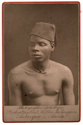 Vintage Late 19th Century Photograph a Belgium Congo Man