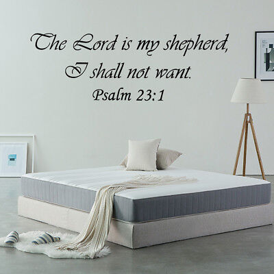 Psalm 23:1 Bible Verse Vinyl Wall Stickers Decals Scripture Word Quote Art Decor