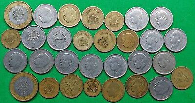 Lot of 30 Mixed Old Morocco Coins North Africa  !!