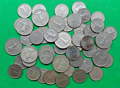 Lot of 49 Mixed UAE United Arab Emirates Coins You Date  Middle East !!