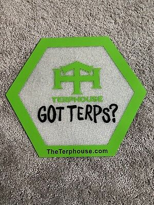 TerpHouse Branded Got Terps Medical Grade Silicone Dab Mat  Cooking Mat 16x13.5
