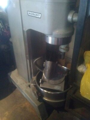 Hobart 60qt mixer H-600 with all attachments. Cheese grater, dough hook, paddle.