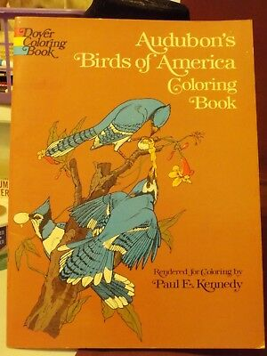 Vintage New 1974 Audubon's Birds Of America Coloring Book By Paul E Kennedy