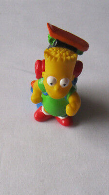 The Simpsons Bart Simpson figure backpack camping 1990 height 7cms