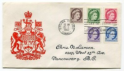 Canada FDC 1962 QEII Wilding - TAGGED Issue - Coat of Arms Cachet Cover