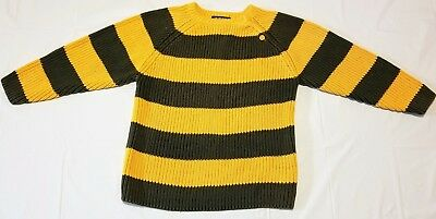 Children's Place Boy's 3T Olive Green and Yellow Striped Sweater