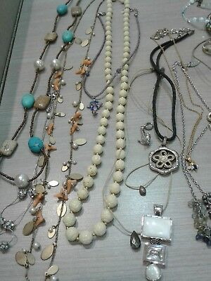 47 pc jewelry lot, signed, good pre owned condition,  LIA SOPHIA, FOSSIL,  j jil