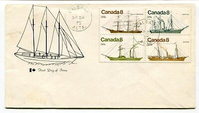 Canada FDC 1975 Ships Issue - Calgary AB - Cachet Cover -
