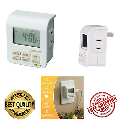 7 DAY Digital Timer Outlet Electric Switch Programmable Wall Plug in ...