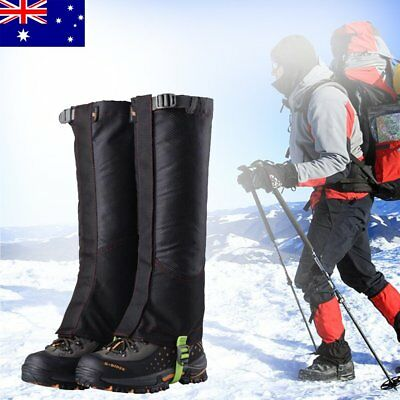 Men's Outdoor Climbing Hunting Double-deck High Leg Gaiters Waterproof Boots AU
