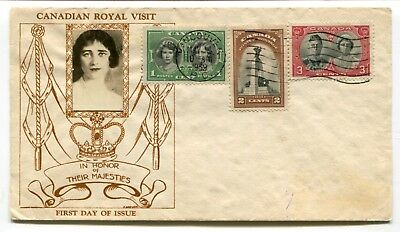Canada FDC 1939 Royal Visit - Vancouver BC - Crosby Photo Cachet Cover -