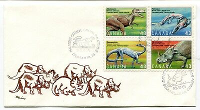 Canada FDC 1993 Dinosaurs - Drumheller AB - Speirs Cachet Cover - Thermal Ink