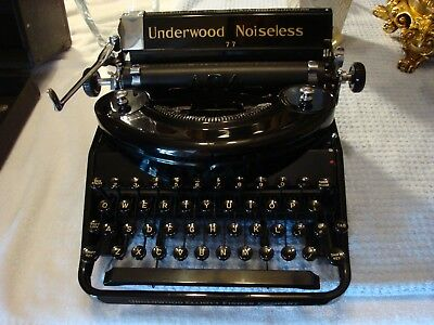 Antique Underwood Noiseless 77 Typewriter With Case**near Mint**must See**