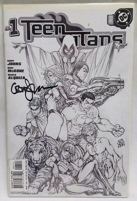 Teen Titans #1 Turner Sketch Cover Signed by Geoff Johns 323 0f 1999 RARE