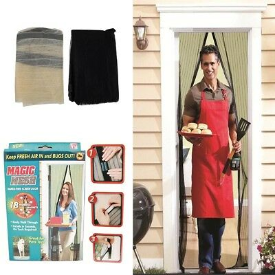 Magic Curtain Door Mesh Magnetic Fastening Hand Free Mosquito Fly Bug Screen Net