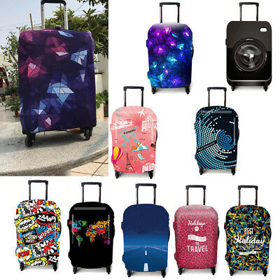 """18-32"""" Travel Luggage Cover Elastic Cartoon Suitcase Protector Dust-proof Case"""