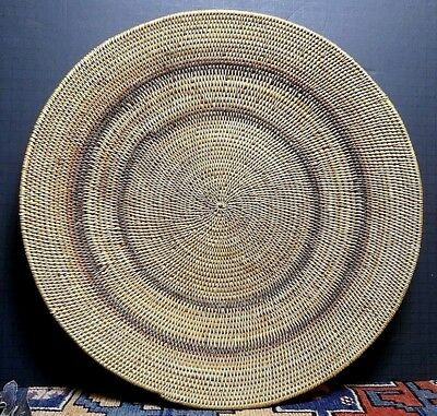 Antique Paiute Native American Willow Basket Bowl Concentric Circles LARGE 18'