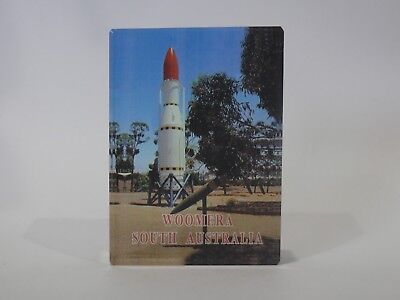 Vintage Souvenir Glass Paperwieght Woomera Rocket South Australia