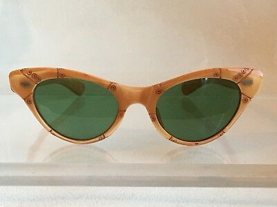 Vintage 50's Raybert Tiki Faux Bamboo Sunglasses Eames Tropical French Hukilau