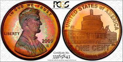 2009-S Lincoln Cent - Presidency ~ TONED PROOF ~ PCGS PR67RB