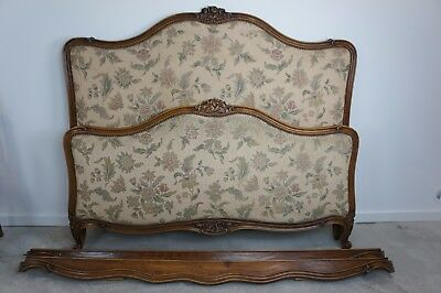 Vintage French Louis XV Style Upholstered Bed Frame to reupholster